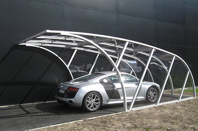 Carport transparent