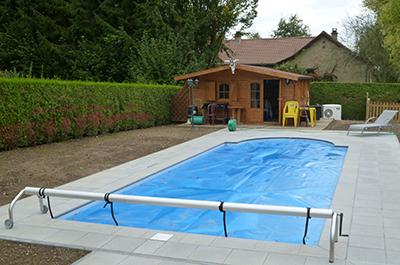Couvertures de piscine solaire b che bulles pascal riche for Piscine la riche